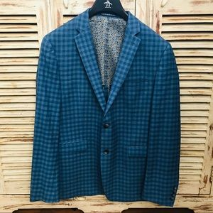 Original Penguin Blue Checkered Sports Coat